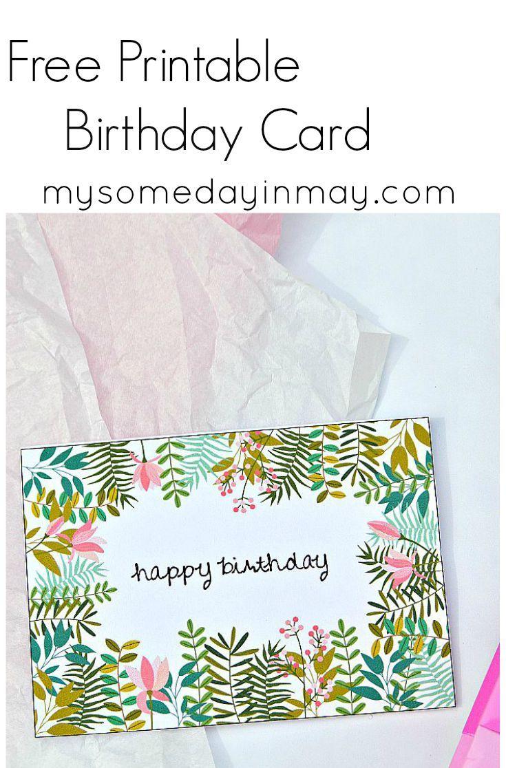 Free Birthday Card | Birthday Ideas | Free Printable Birthday Cards - Free Printable Cards