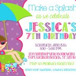 Free Birthday Party Invitations Card Printable Glamours Children   Free Printable Polka Dot Birthday Party Invitations