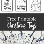 Free Black & White Christmas Gift Tags | Crafts Ideas   Christmas Gift Tags Free Printable Black And White