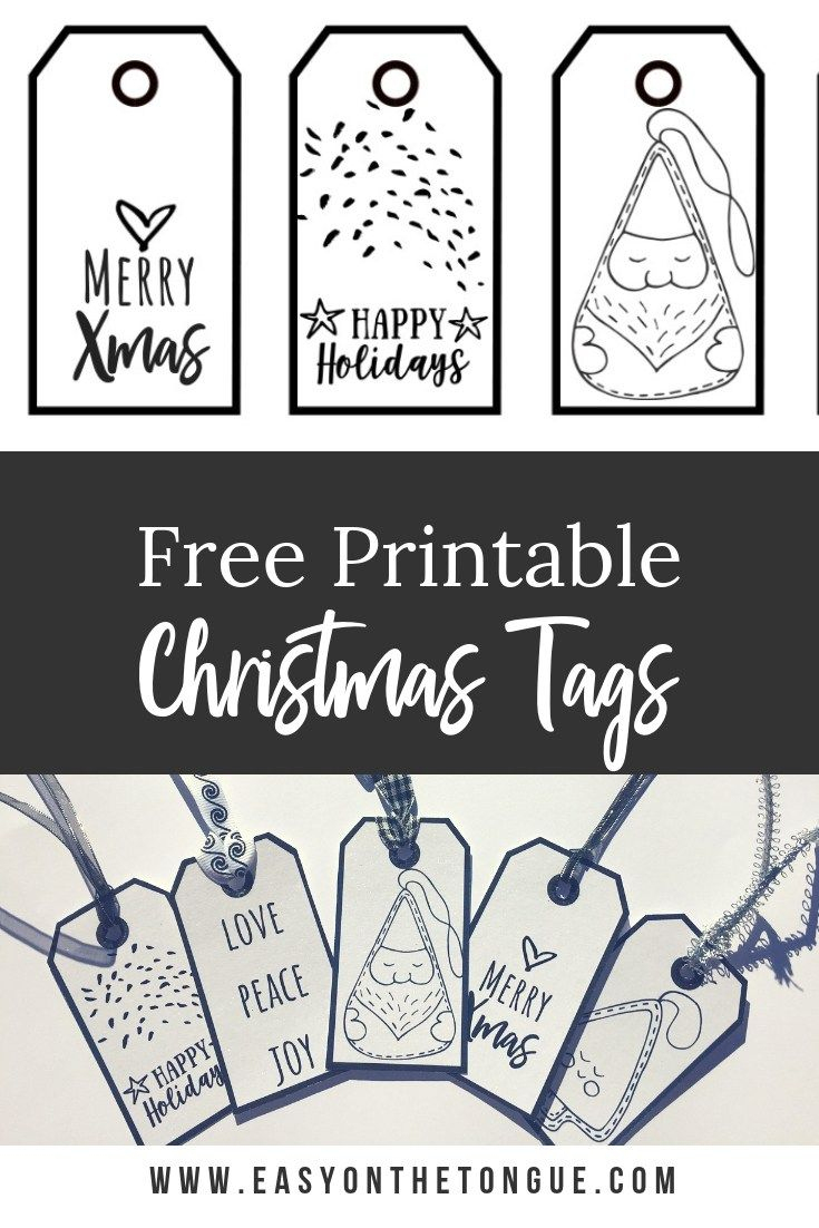 Free Black & White Christmas Gift Tags | Crafts Ideas - Christmas Gift Tags Free Printable Black And White