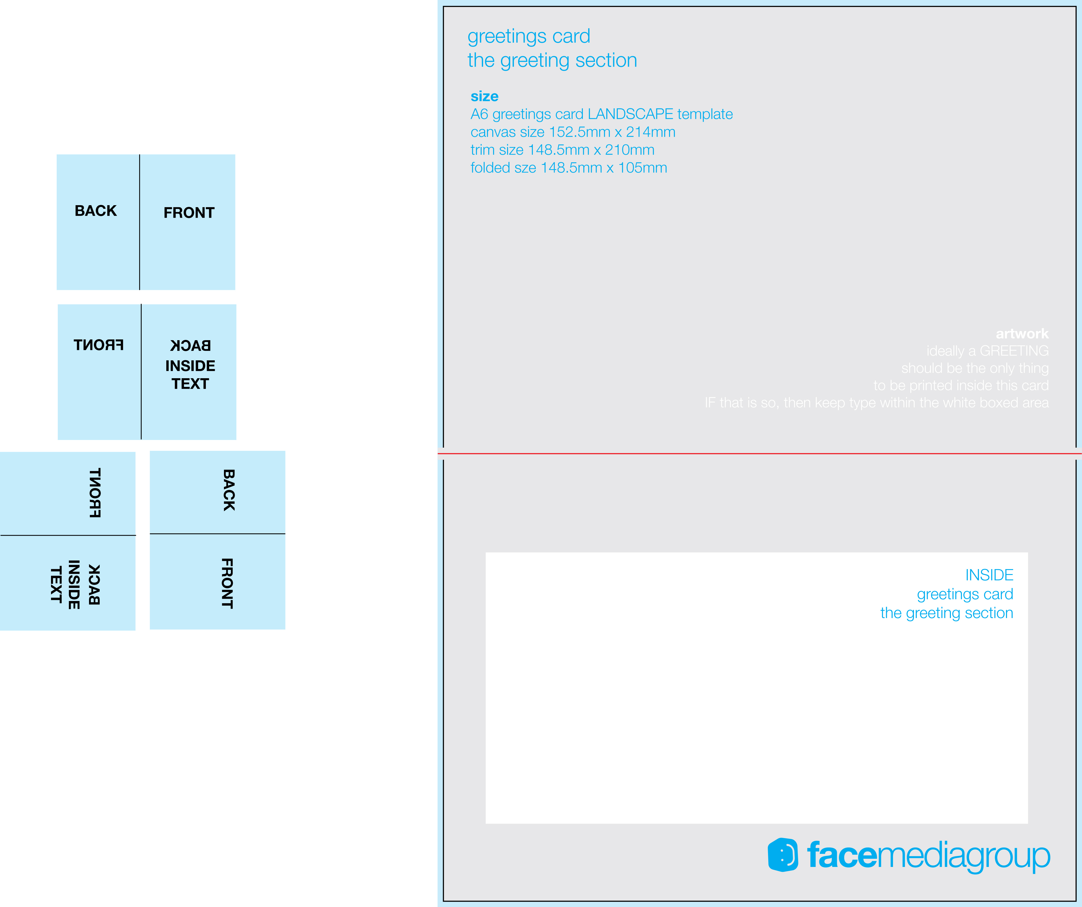 Free Blank Greetings Card Artwork Templates For Download | Face - Free Printable Blank Greeting Card Templates