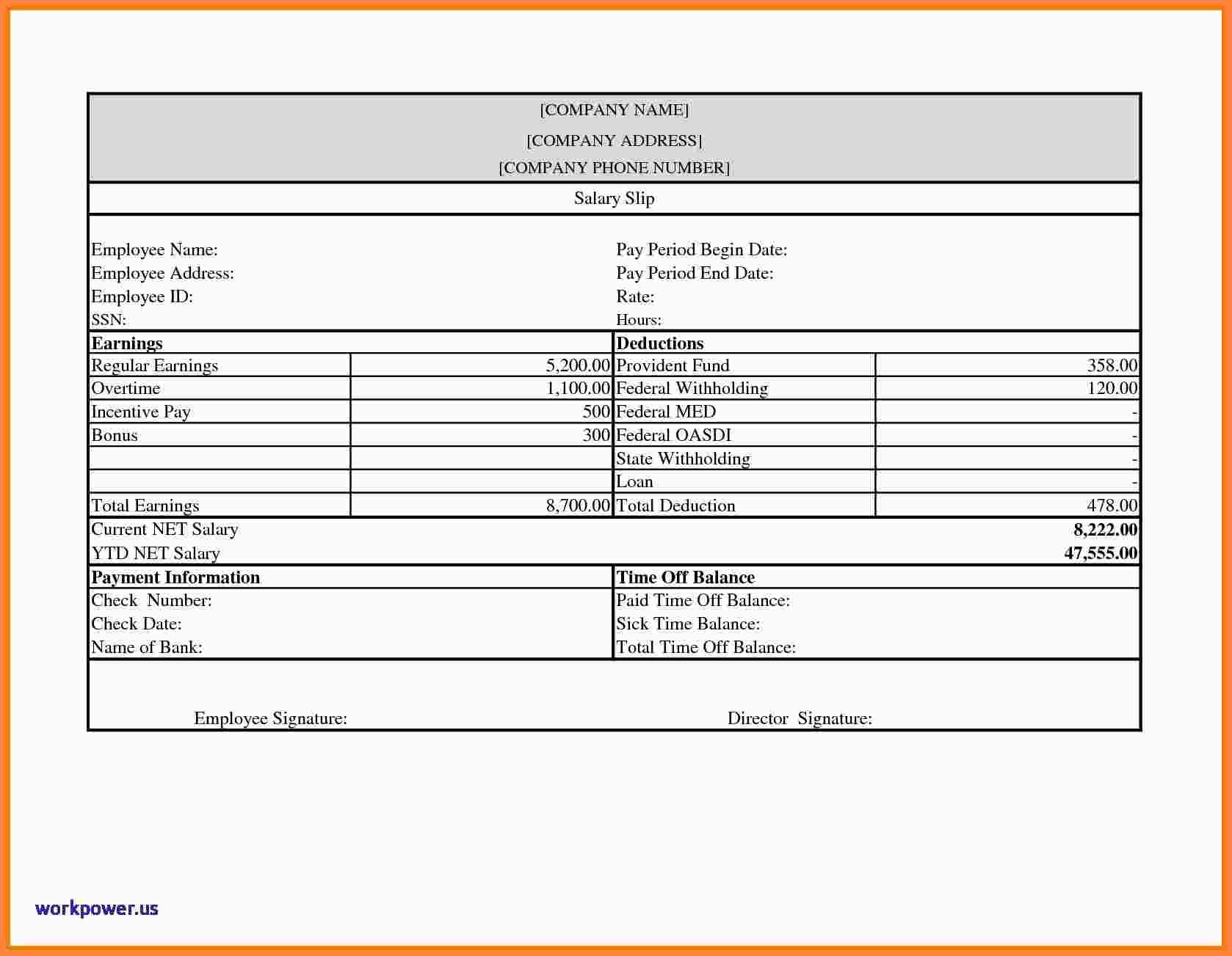 Free Blank Pay Stub Template Downloads.free-Payroll-Check-Stub - Free Printable Check Stubs Download