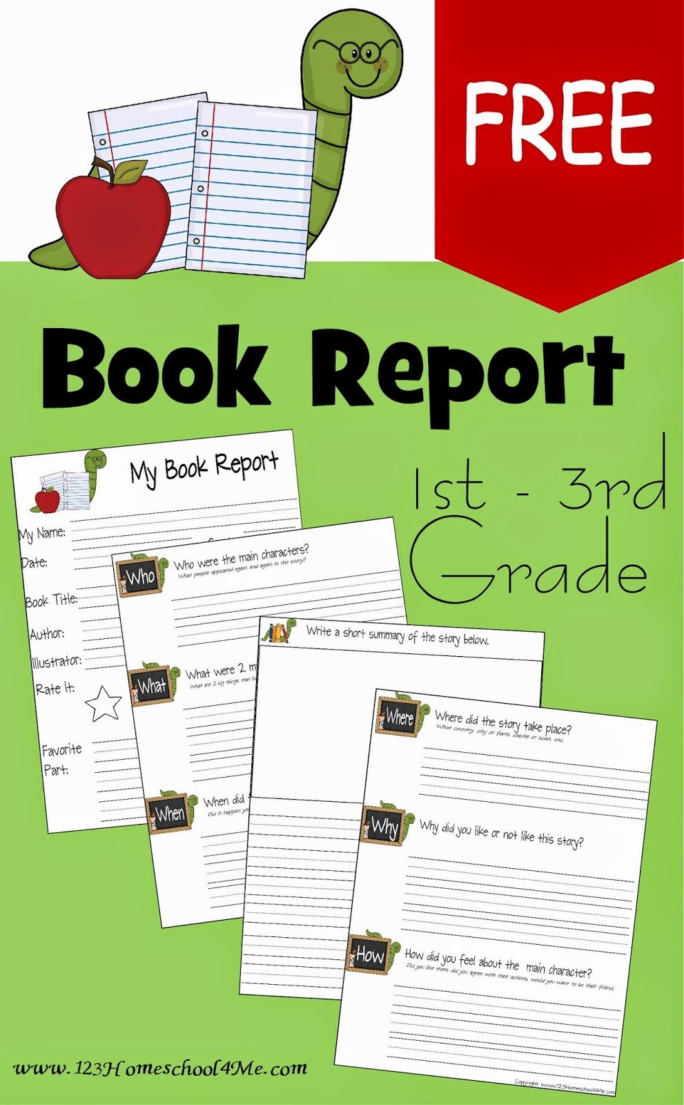 Free Book Report Template | Play Activities For Kids | 3Rd Grade - Free Printable Story Books For Grade 2