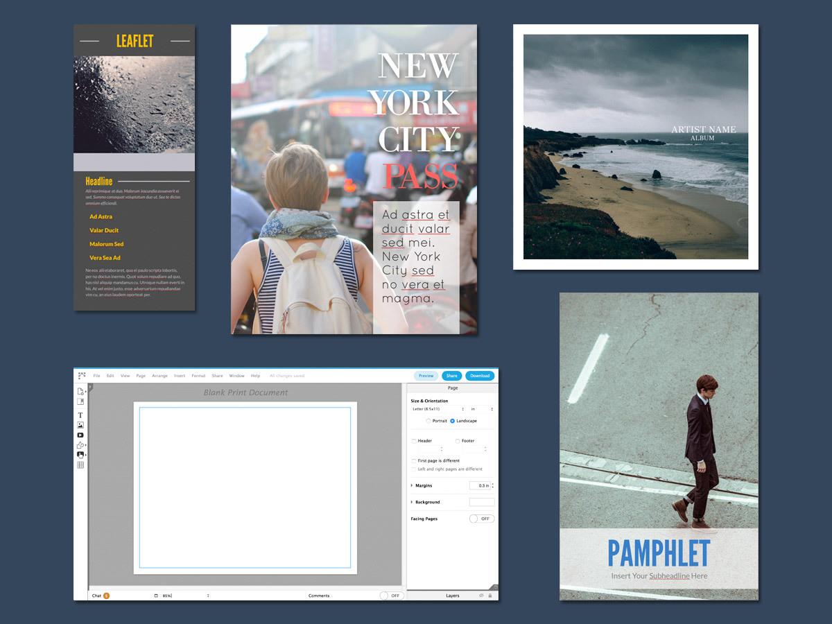 Free Brochure Maker - Create Custom Brochures | Lucidpress - Online Brochure Maker Free Printable