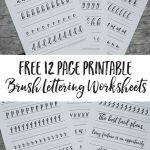 Free Brush Lettering Worksheets | Lettering | Pinterest | Brush   Free Printable Calligraphy Worksheets