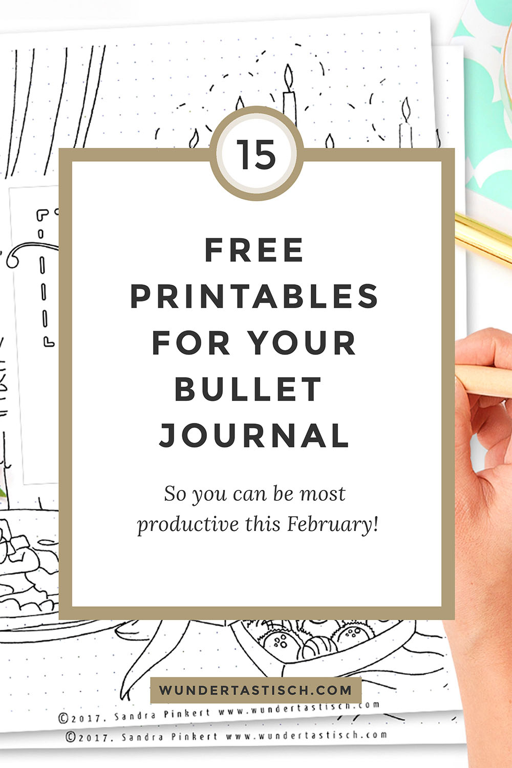 Free Bullet Journal Printables February 2017 - Wundertastisch - Free Printable Journal Templates