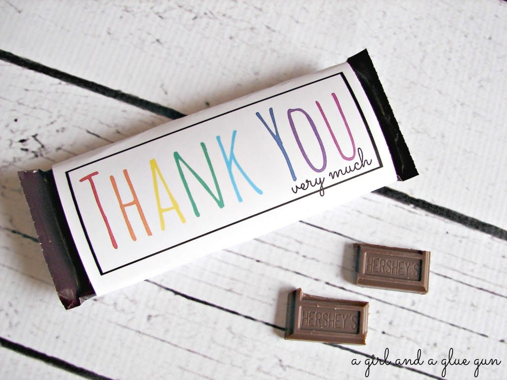Free Candy Bar Wrapper Thank You (And Congrats) Printables! - A Girl - Free Printable Hershey Bar Wrappers