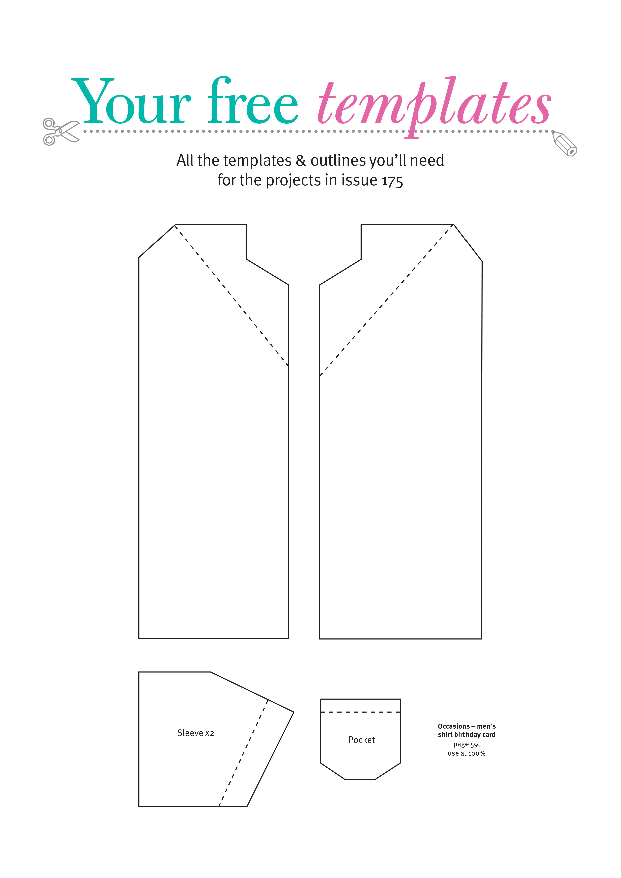 Free Card Making Templates From Papercraft Inspirations 175 - Free Card Making Templates Printable