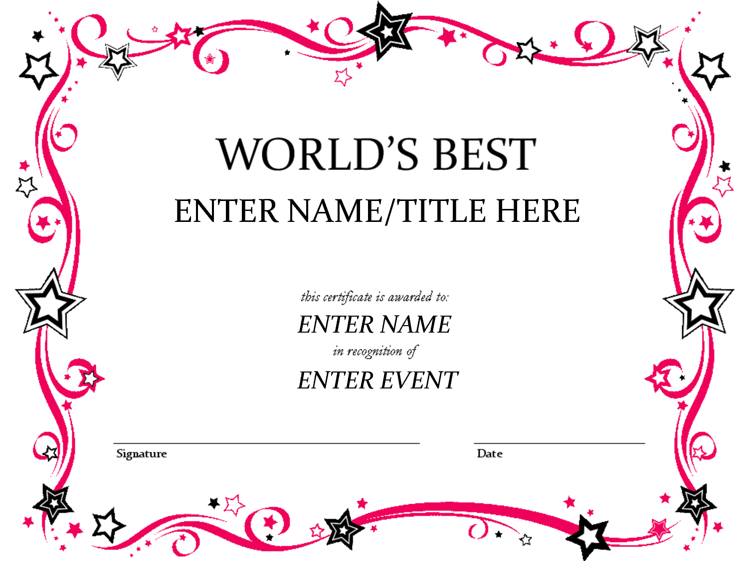 Free Certificate Template, Download Free Clip Art, Free Clip Art On - Best Costume Certificate Printable Free