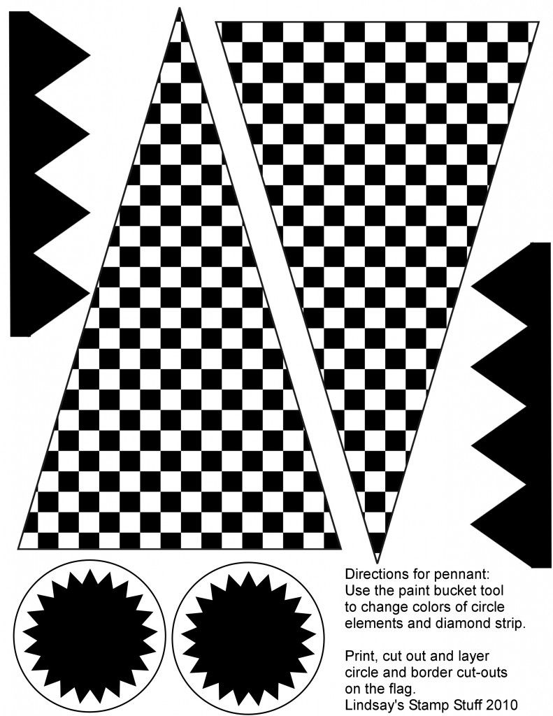 Free Checkered Flag Printables & More | Drayden's 6Th Birthday | Hot - Free Printable Checkered Flag Banner