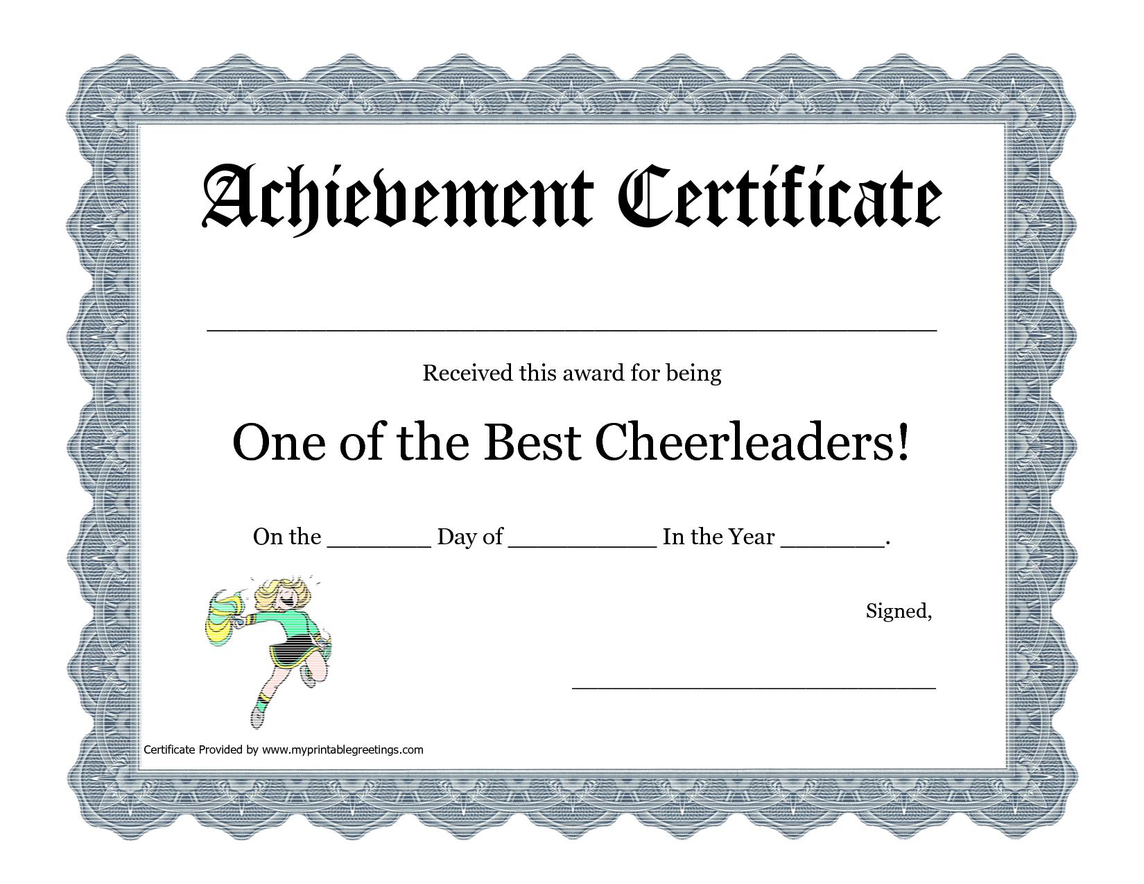 Free Cheerleading Printables | Best Cheerleader Printable Awards - Free Printable Cheerleading Certificates