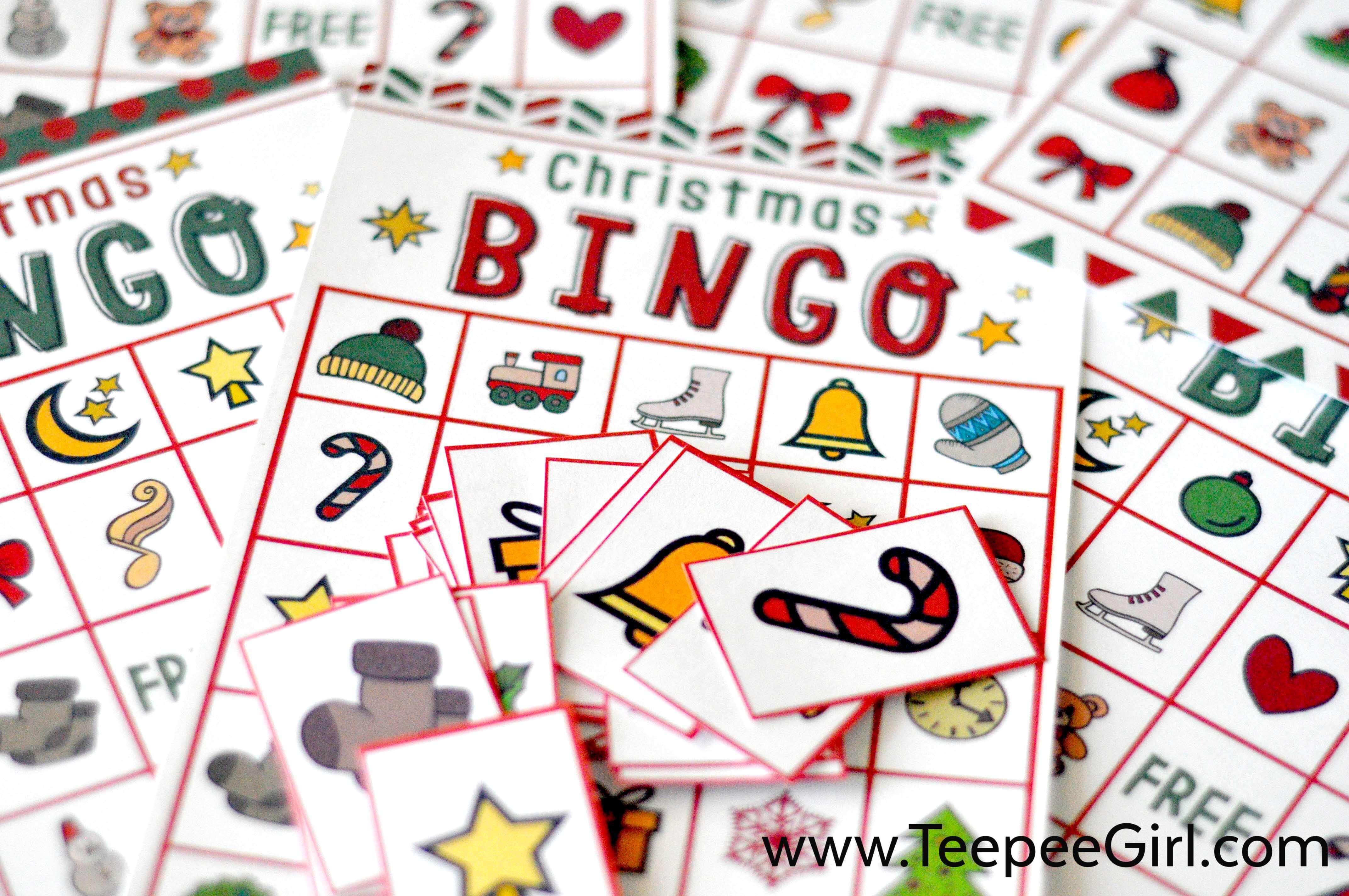 Free Christmas Bingo Game Printable - Christmas Bingo Game Printable Free