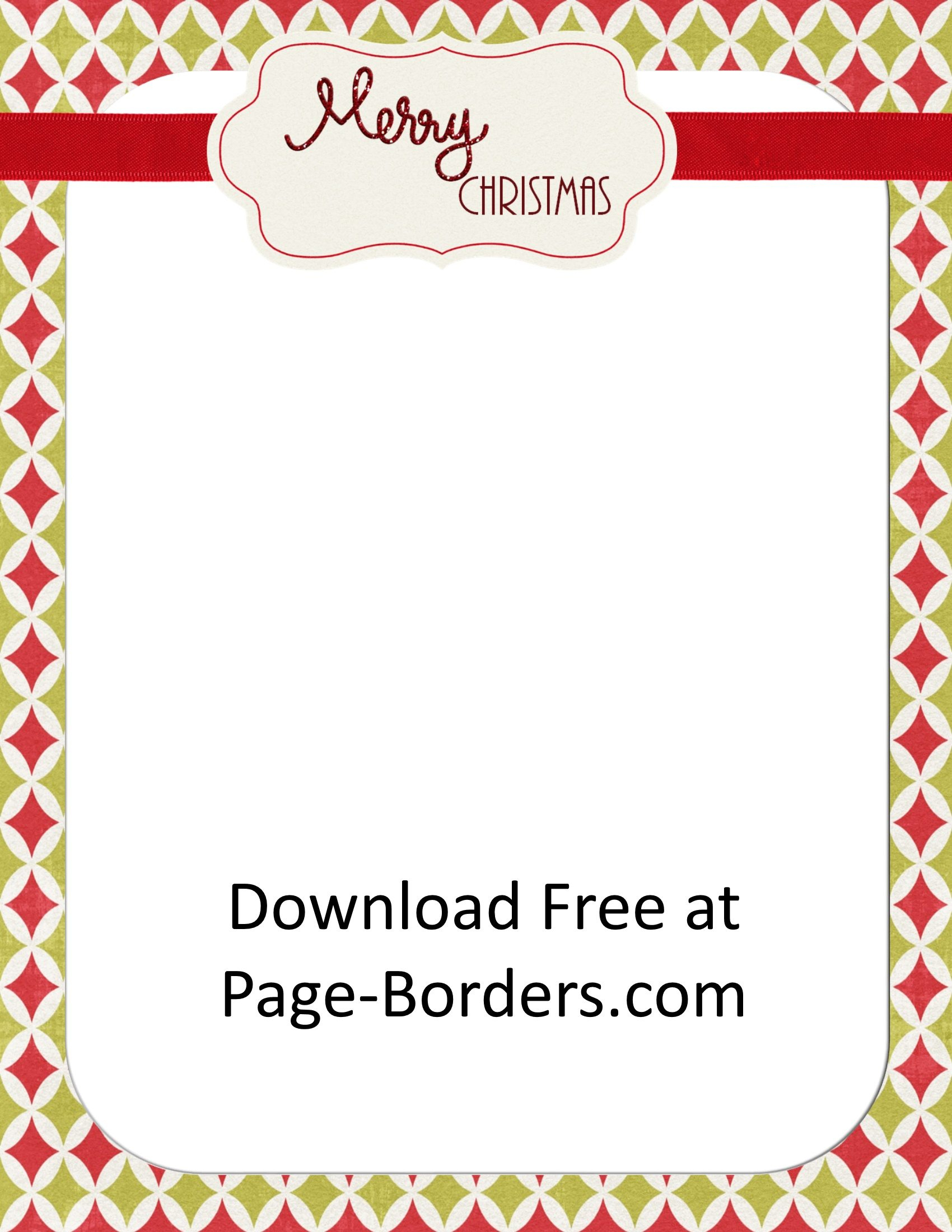 Free Christmas Border | Customize Online | Personal & Commercial Use - Free Printable Christmas Paper With Borders