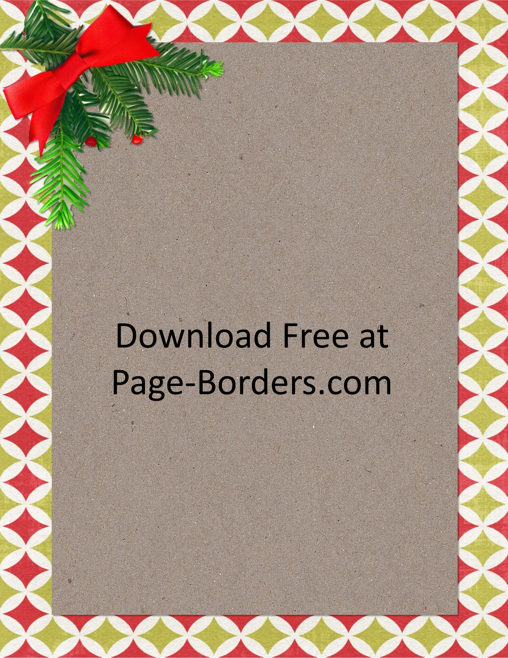 Free Christmas Border | Customize Online | Personal & Commercial Use - Free Printable Page Borders Christmas