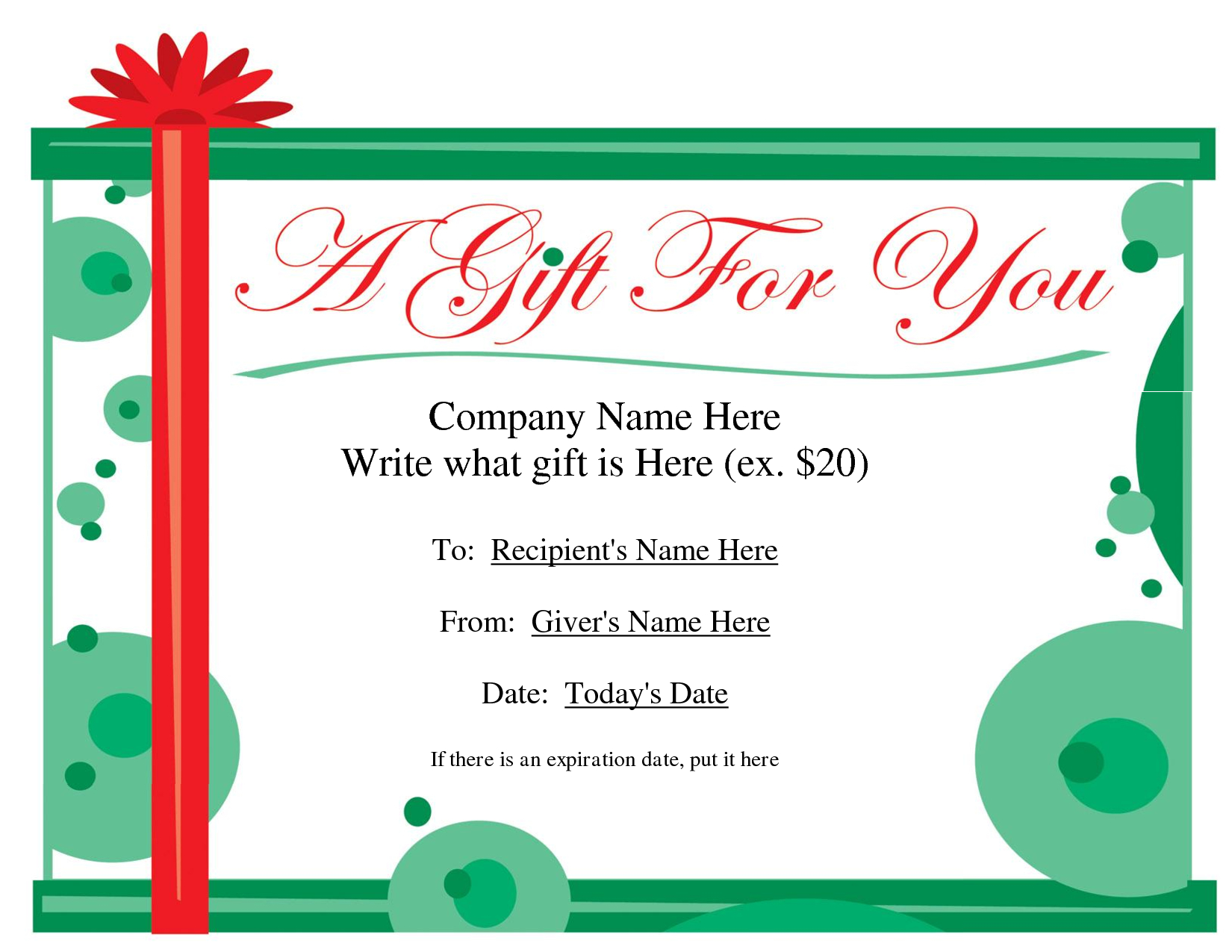 Free Christmas Gift Certificate Templates   Ideas For The House - Free Printable Gift Vouchers Uk