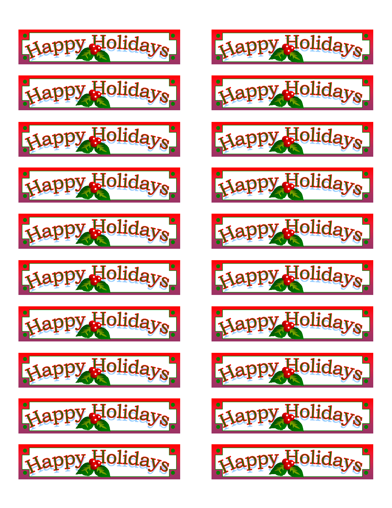 Free Christmas Label Templates Avery 5160 – Festival Collections - Free Printable Labels Avery 5160