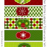 Free Christmas Party Printables | Tis The Season. | Christmas Labels   Christmas Water Bottle Labels Free Printable