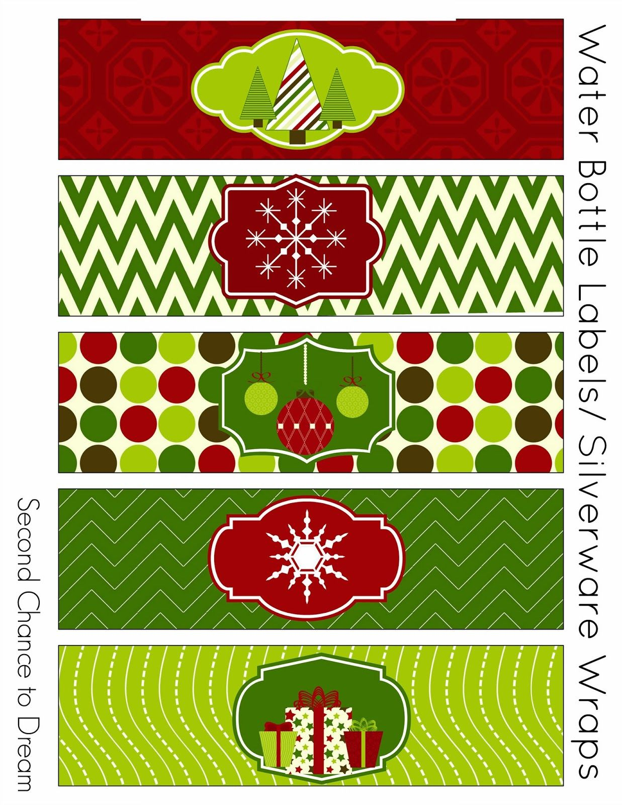 Free Christmas Party Printables   Tis The Season.   Christmas Labels - Christmas Water Bottle Labels Free Printable