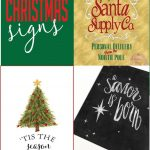 Free Christmas Printable Signs Roundup | Free Printables | Free   Free Printable Christmas Party Signs