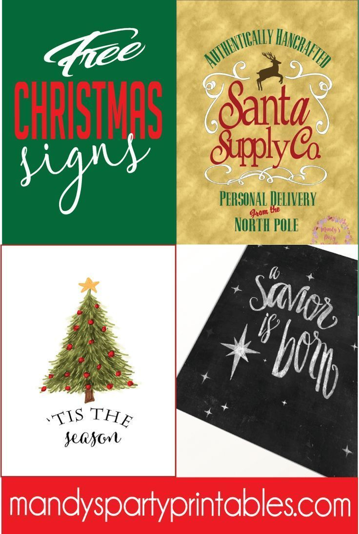 Free Christmas Printable Signs Roundup | Free Printables | Free - Free Printable Christmas Party Signs