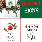 Free Christmas Printable Signs Roundup | Mandy's Party Printables   Free Printable Christmas Party Signs