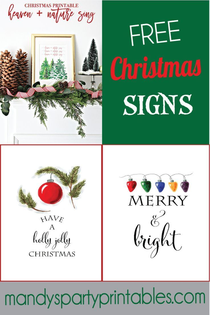 Free Christmas Printable Signs Roundup | Mandy's Party Printables - Free Printable Christmas Party Signs