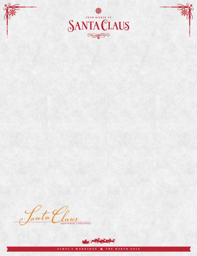 Free Christmas Stationery And Letterheads To Print - North Pole Stationary Printable Free