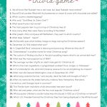 Free Christmas Trivia Game | Lil' Luna – Free Printable Christmas Song Picture Game