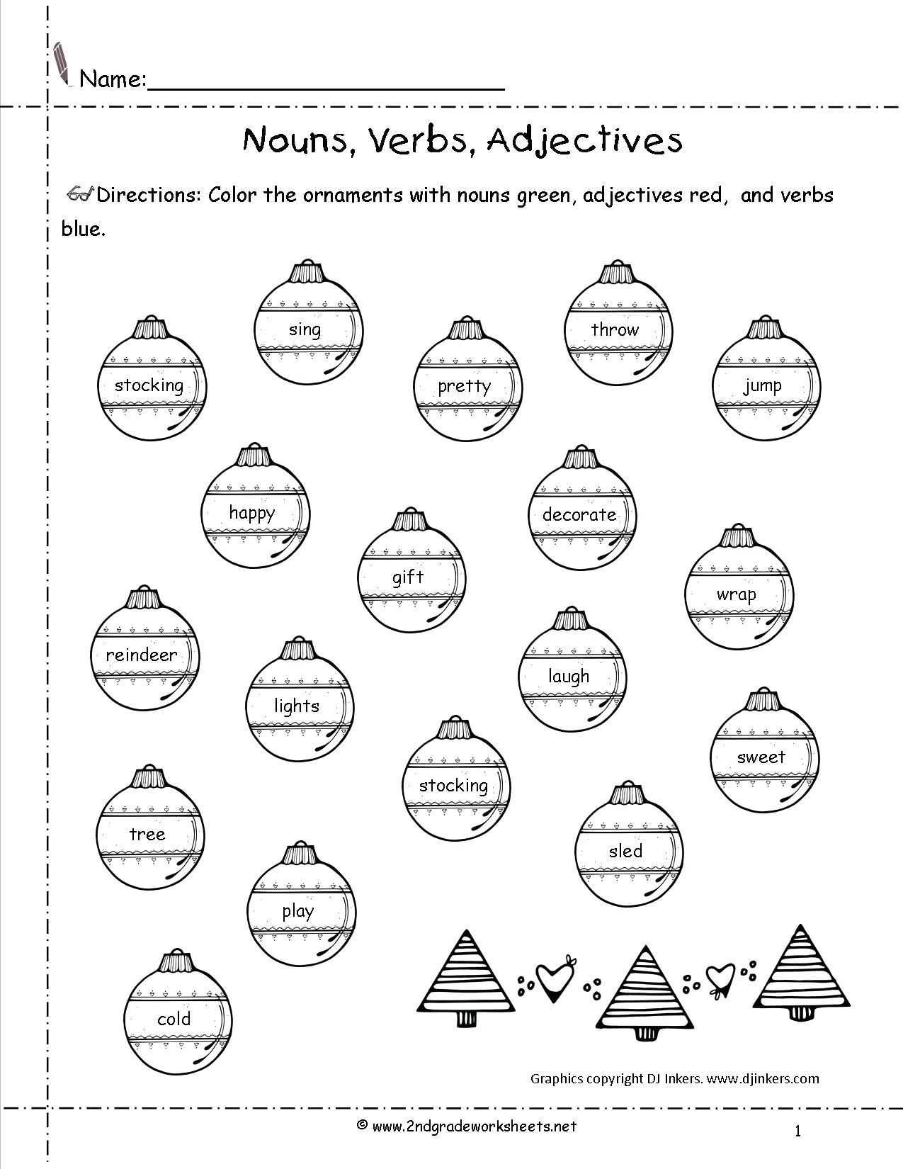 Free Christmas Worksheets Printables Ornaments Free Christmas - Free Printable Worksheets Uk
