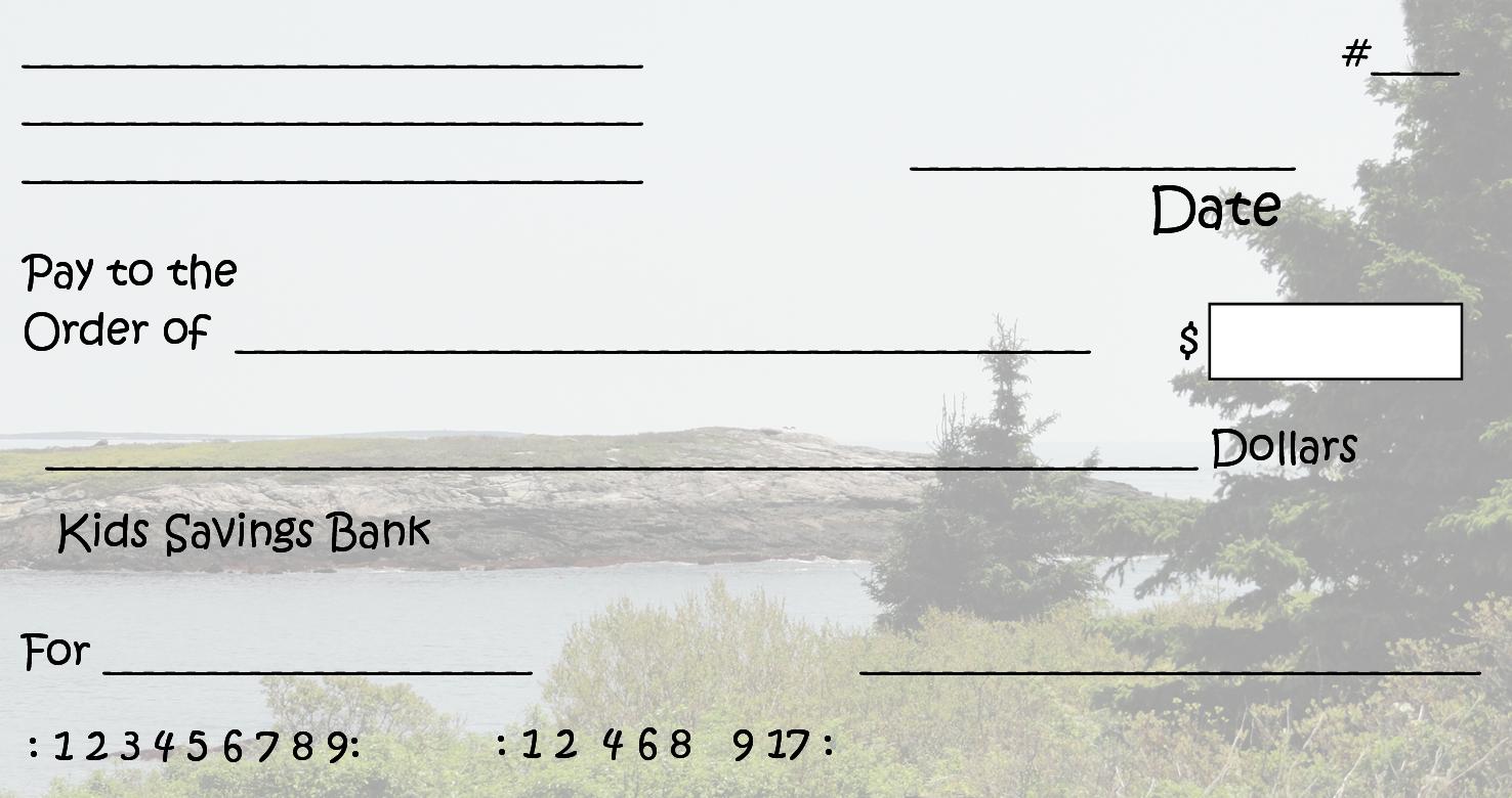 Free Clipart N Images: Printable Pretend Checks For Kids - Free Printable Checks