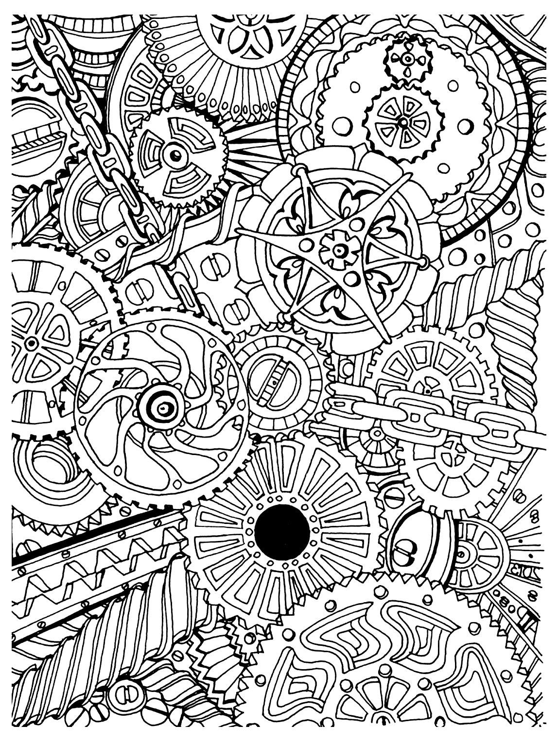 Free Coloring Page Coloring-Adult-Zen-Anti-Stress-Mechanisms-To - Free Printable Zen Coloring Pages