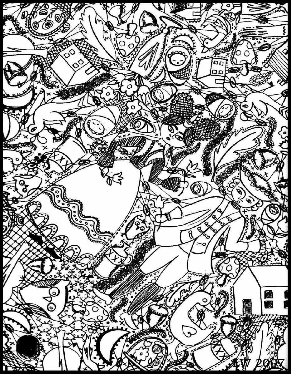 Free Coloring Page «Coloring-Doodle-Art-Doodling-4». | Adult - Free Printable Doodle Art Coloring Pages