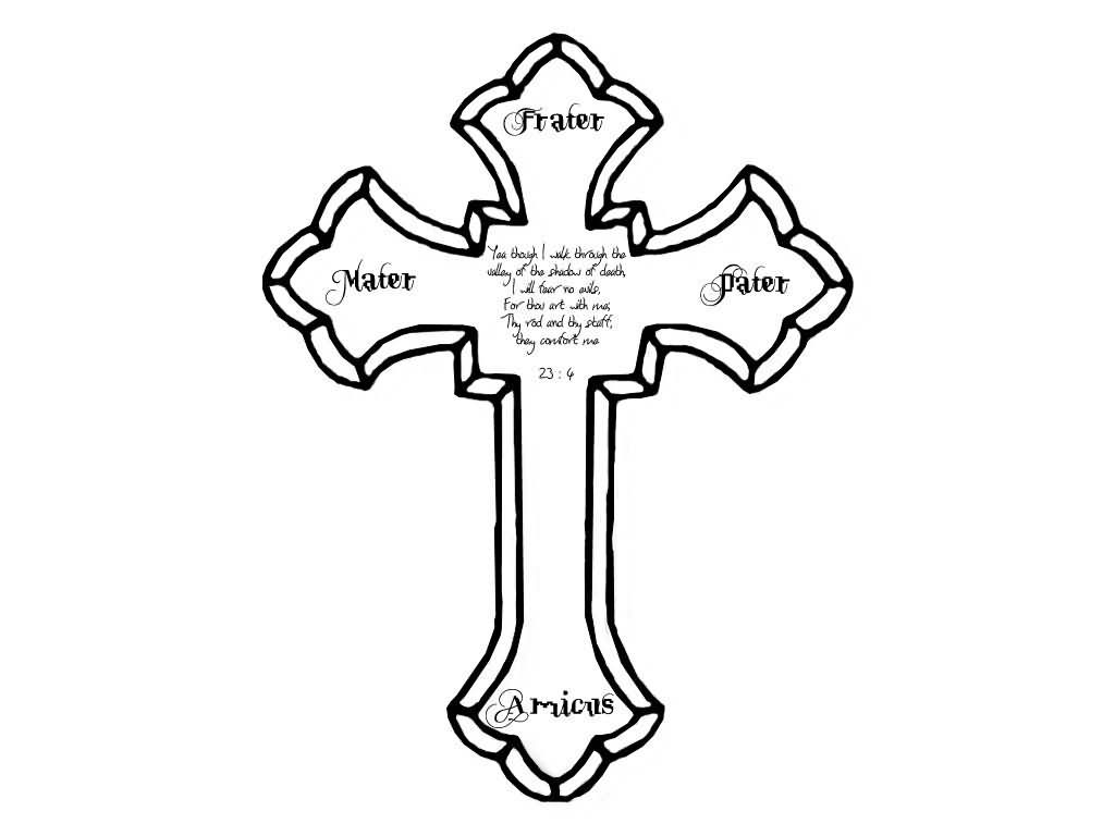 Free Cross Outline, Download Free Clip Art, Free Clip Art On Clipart - Free Printable Cross Tattoo Designs