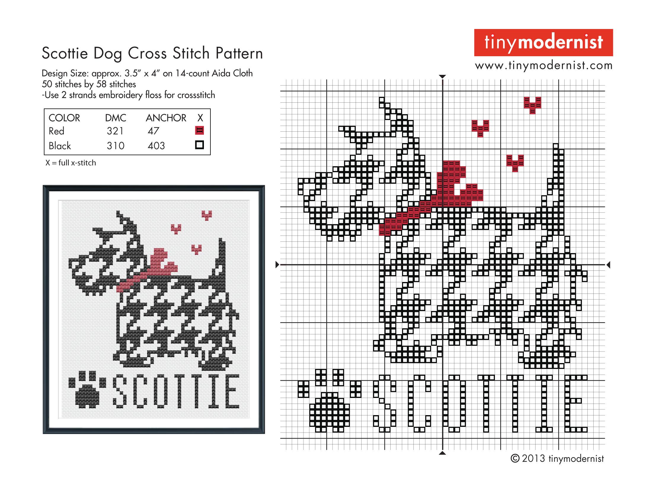 Free Cross Stitch Patterns | Tiny Modernist Cross Stitch Blog - Free Printable Modern Cross Stitch Patterns