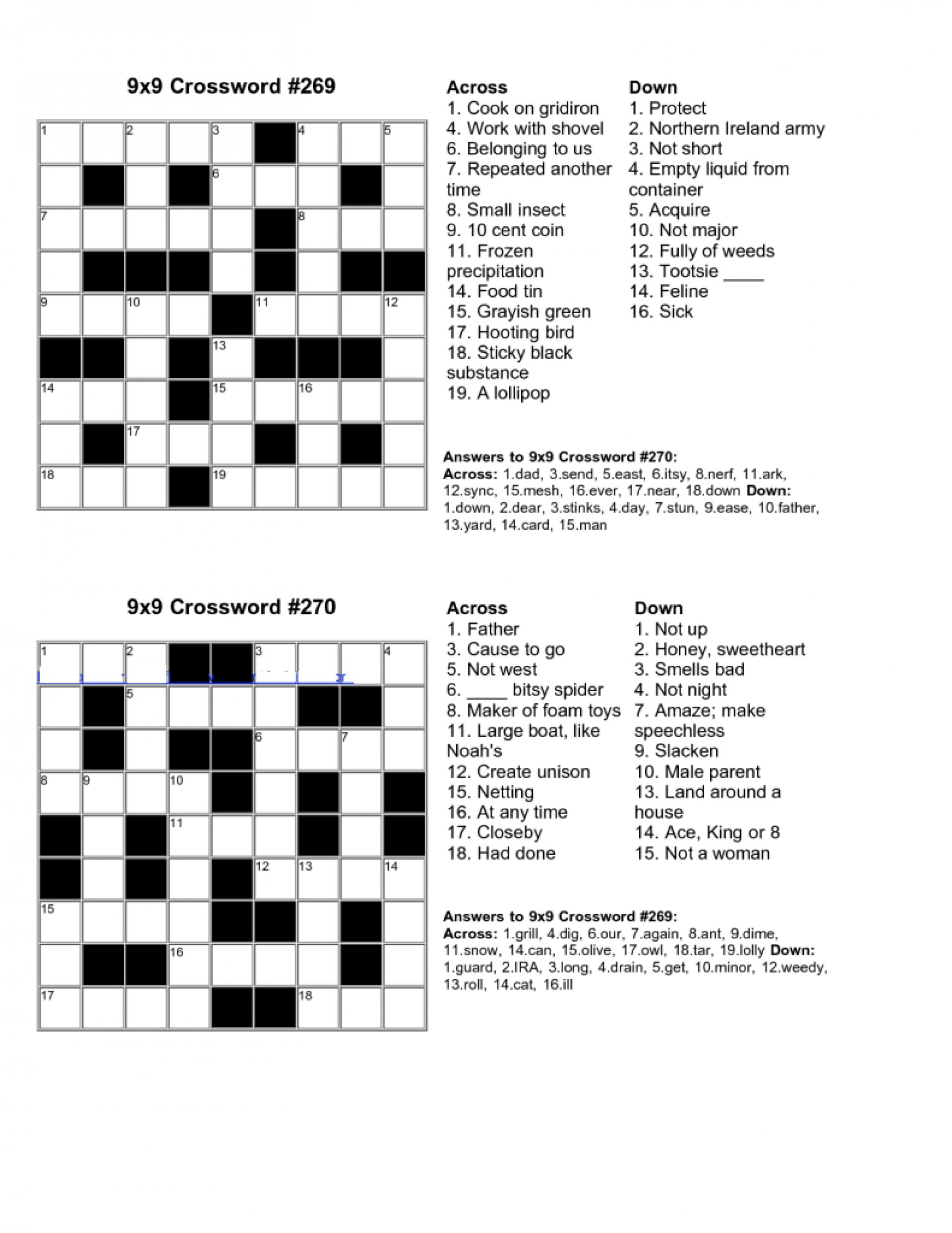Free Crossword Puzzle Maker Printable - Stepindance.fr - Free Crossword Puzzle Maker Printable