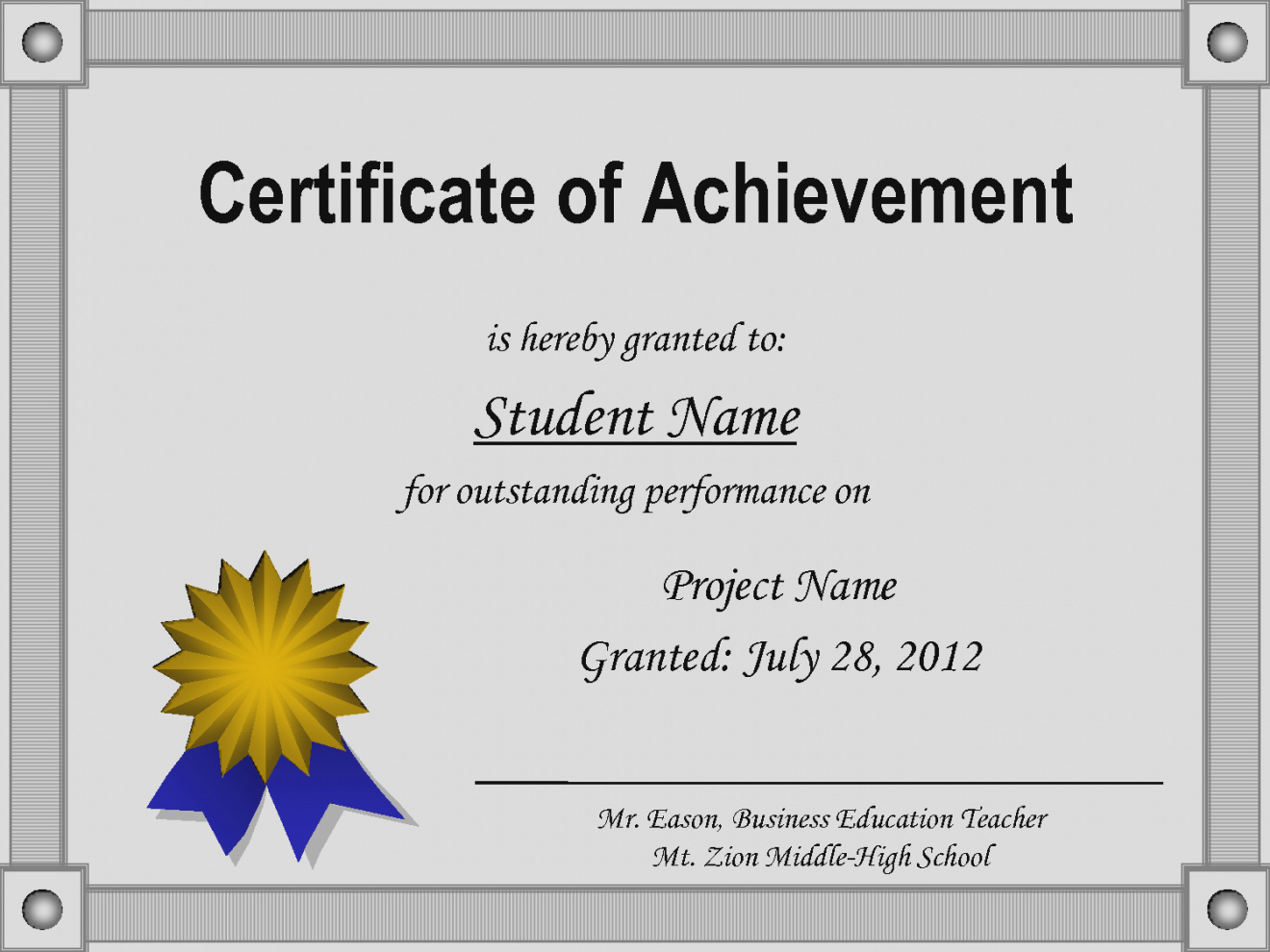 Free Customizable Printable Certificates Of Achievement - Hashtag Bg - Free Printable Certificates Of Accomplishment