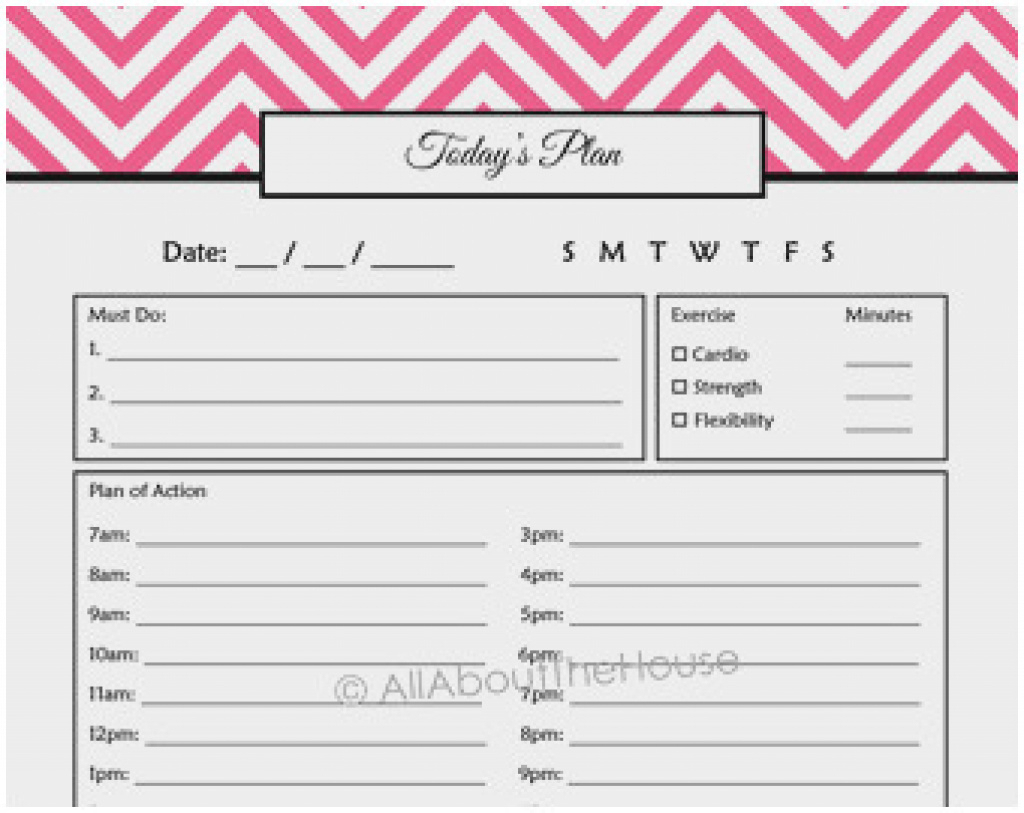 Free Daily Calendar Template With Times Cute Free Printable 24 Hour - Time Management Forms Free Printable