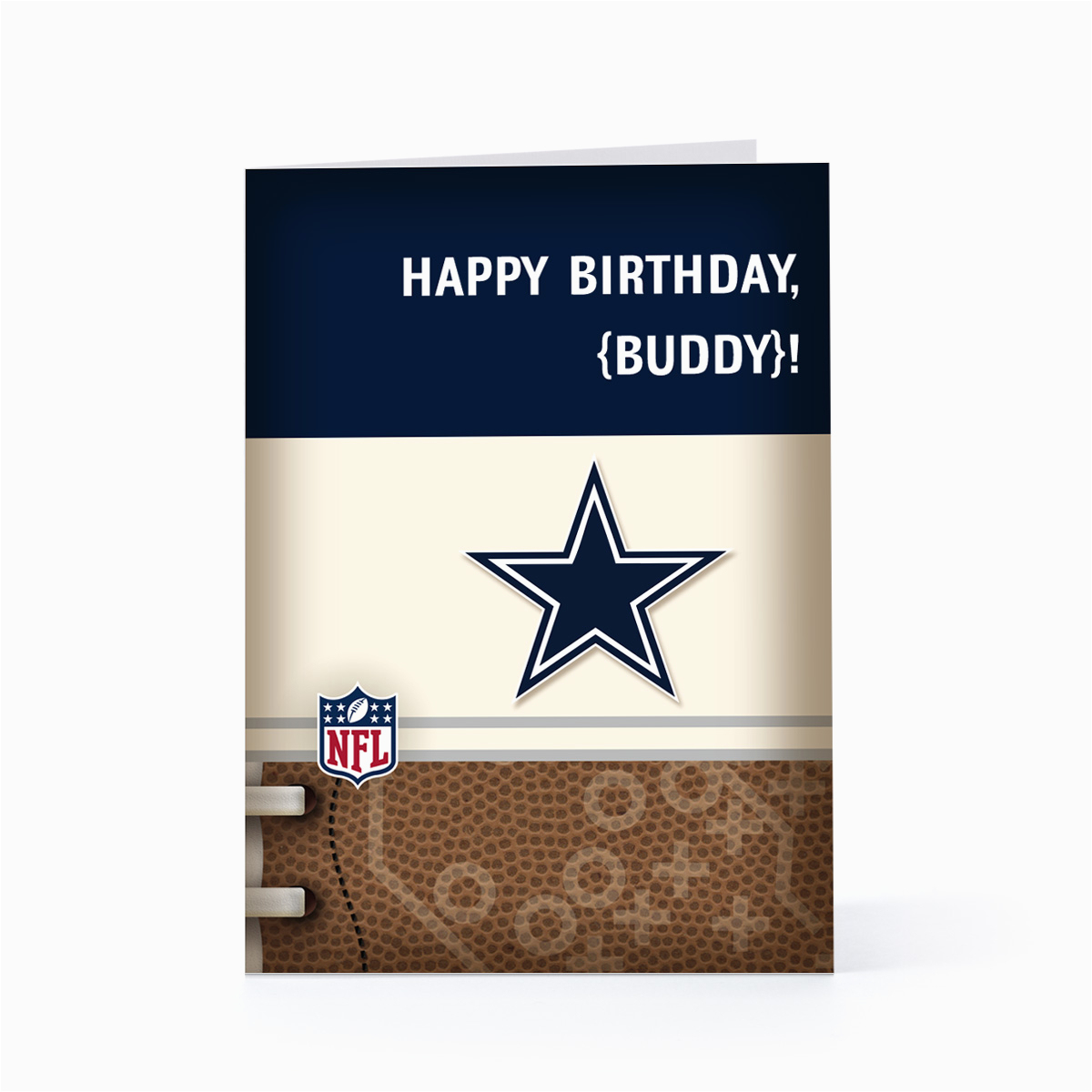Free Dallas Cowboys Birthday Card | Birthdaybuzz - Free Printable Dallas Cowboys Birthday Invitations