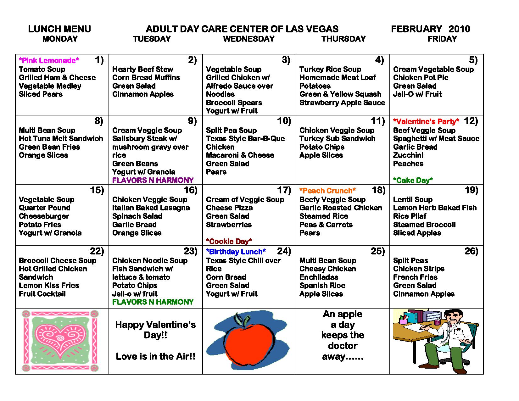 Free Daycare Menus To Print   Similiar Printable Blank Day Care - Free Printable Daycare Menus