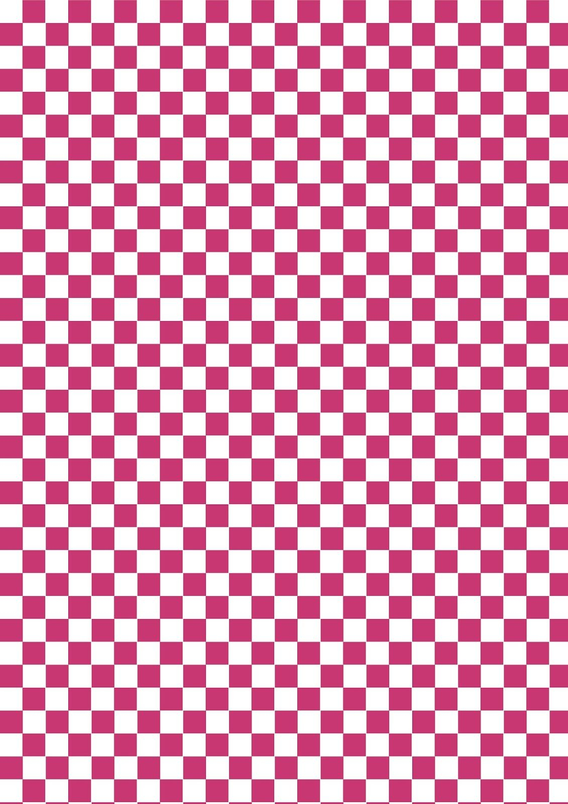 Free Digital Checkered Scrapbooking Paper: Bluish-Red And White - Free Printable Pattern Paper Sheets