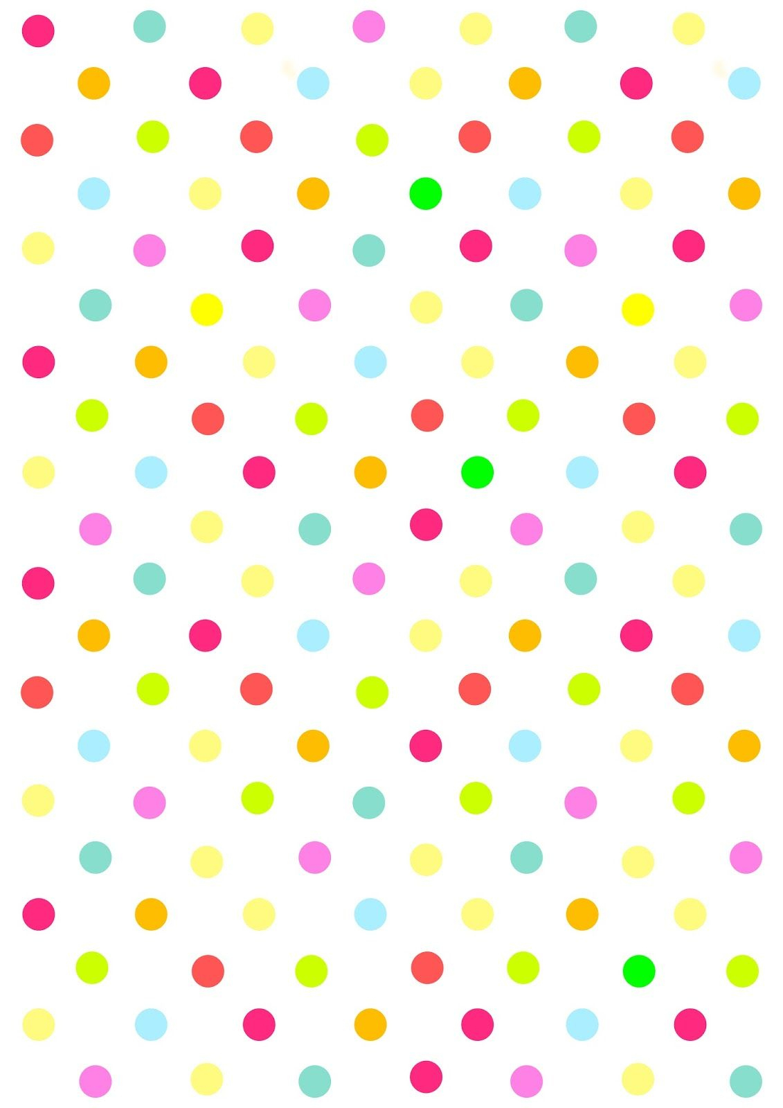 Free Digital Multicolored Polka Dot Scrapbooking Paper - Free Printable Pink Polka Dot Paper
