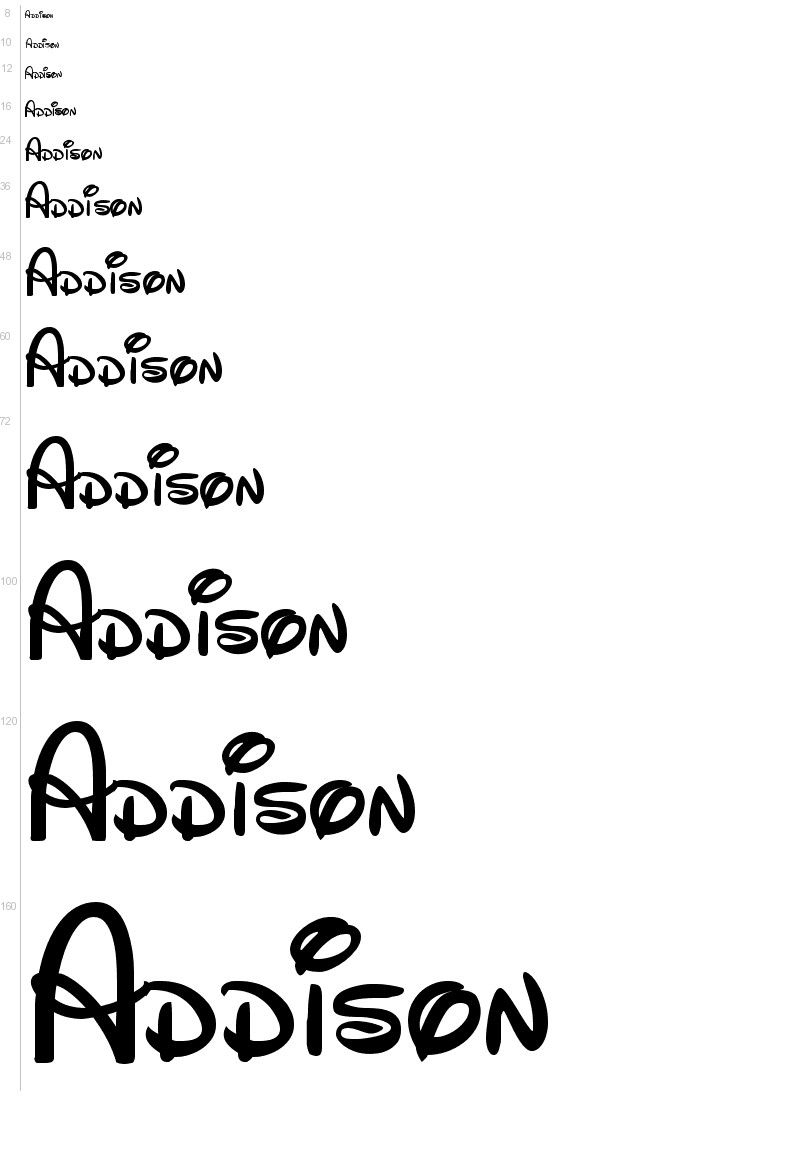 Free Disney Font Template. Enter Your Own Text For A Preview - Free Printable Disney Font Stencils