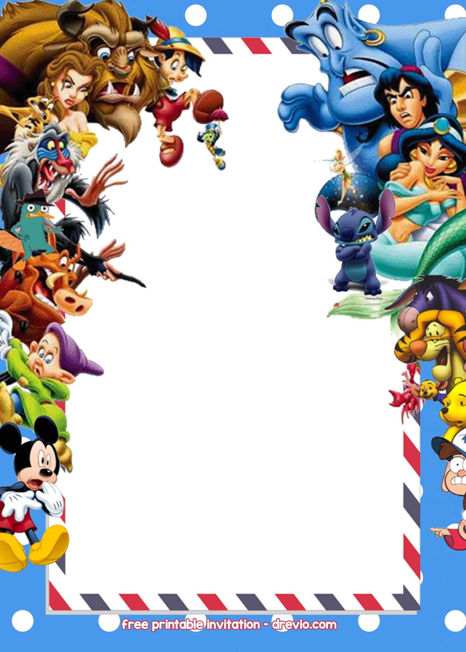 Free Disney Invitations Templates | Free Printable Birthday - Free Printable Disney Invitations