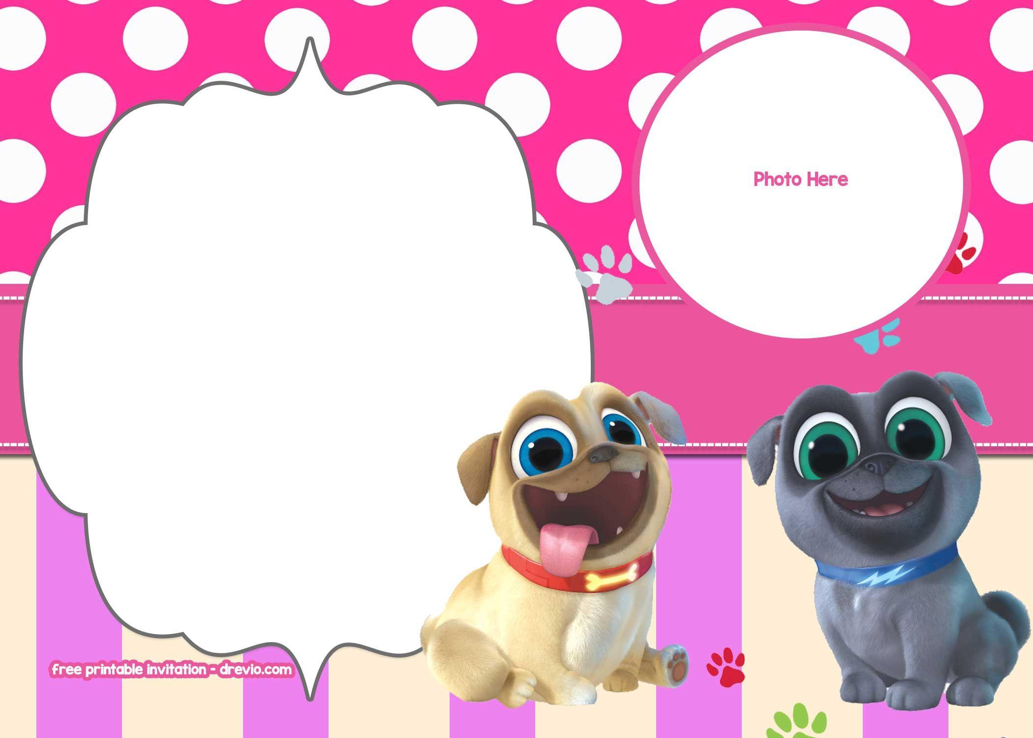 Free Disney Puppy Dog Pals Invitation   Free Printable Birthday - Free Printable Puppy Dog Birthday Invitations