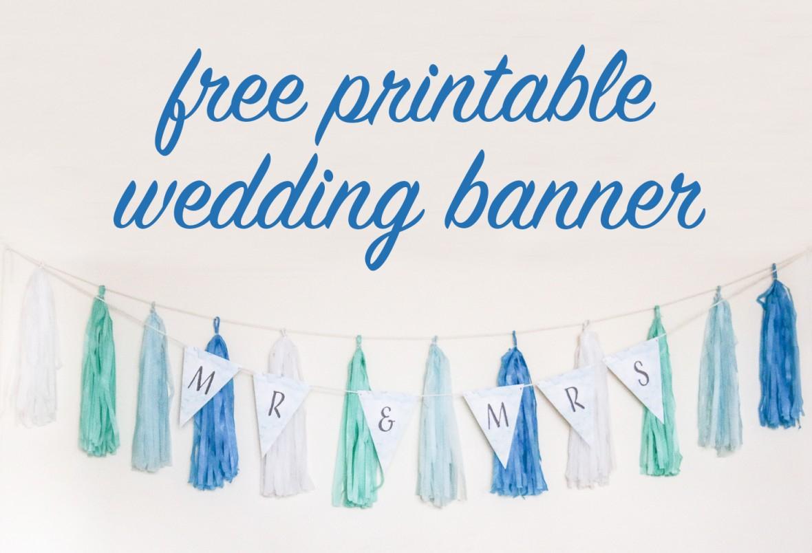 Free Diy Printable Wedding Banner | The Budget Savvy Bride - Free Printable Wedding Banner Letters