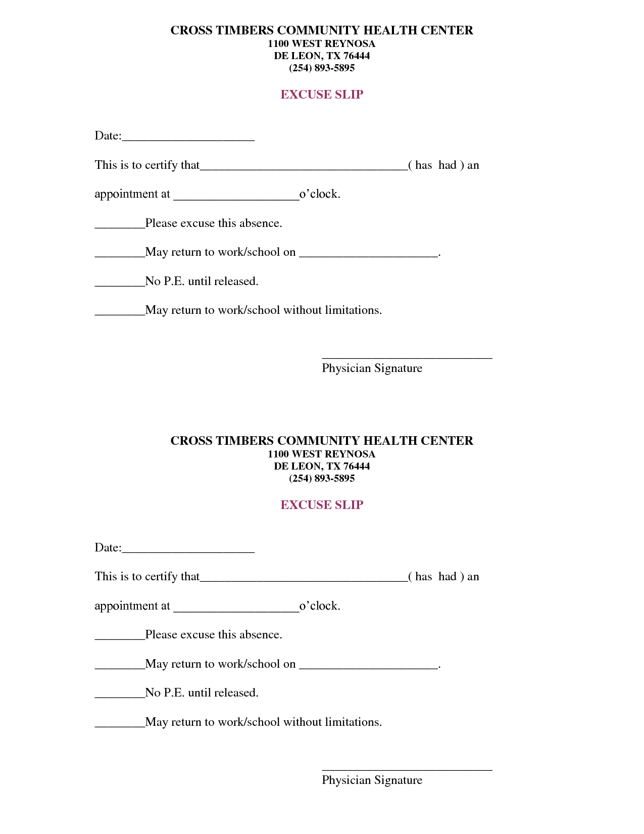 Free Doctors Note Template | Scope Of Work Template | On The Run - Free Printable Doctors Excuse For Work
