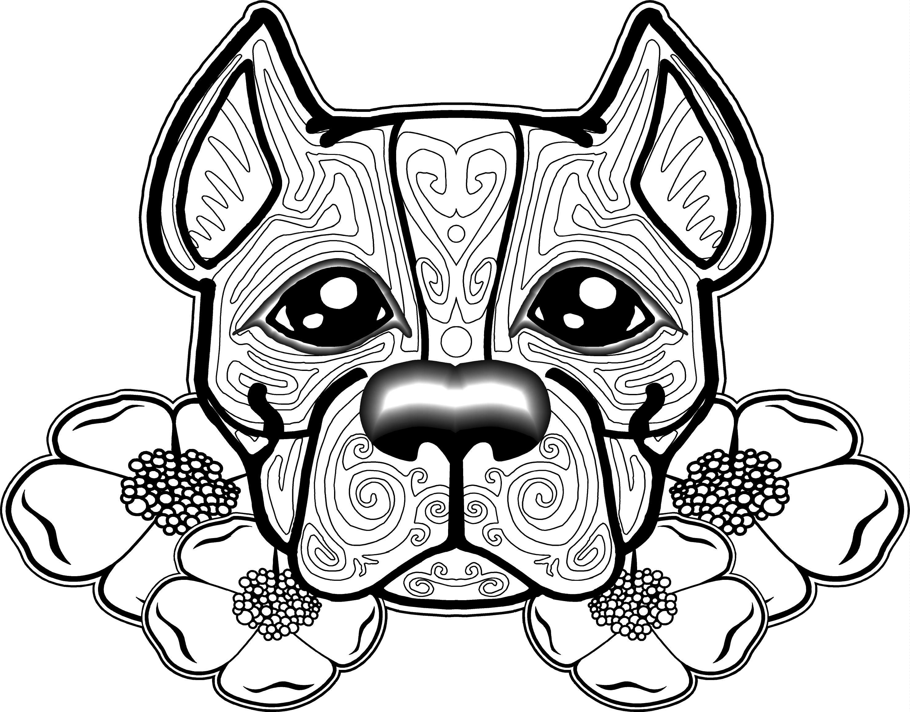 Free Dog Coloring Pages For Adults | Free Printable Coloring Pages - Colouring Pages Dogs Free Printable