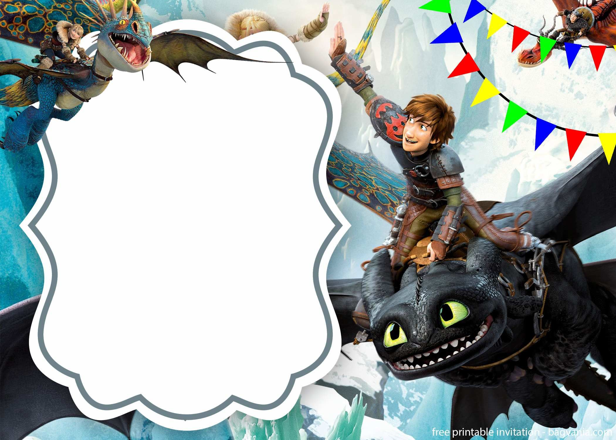 Free Download How To Train Your Dragon Invitation | Bagvania - How To Train Your Dragon Birthday Invitations Printable Free