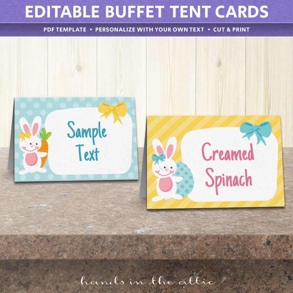 Free Easter Party Food Labels | Printable Download | Hands In The Attic - Free Printable Buffet Food Labels