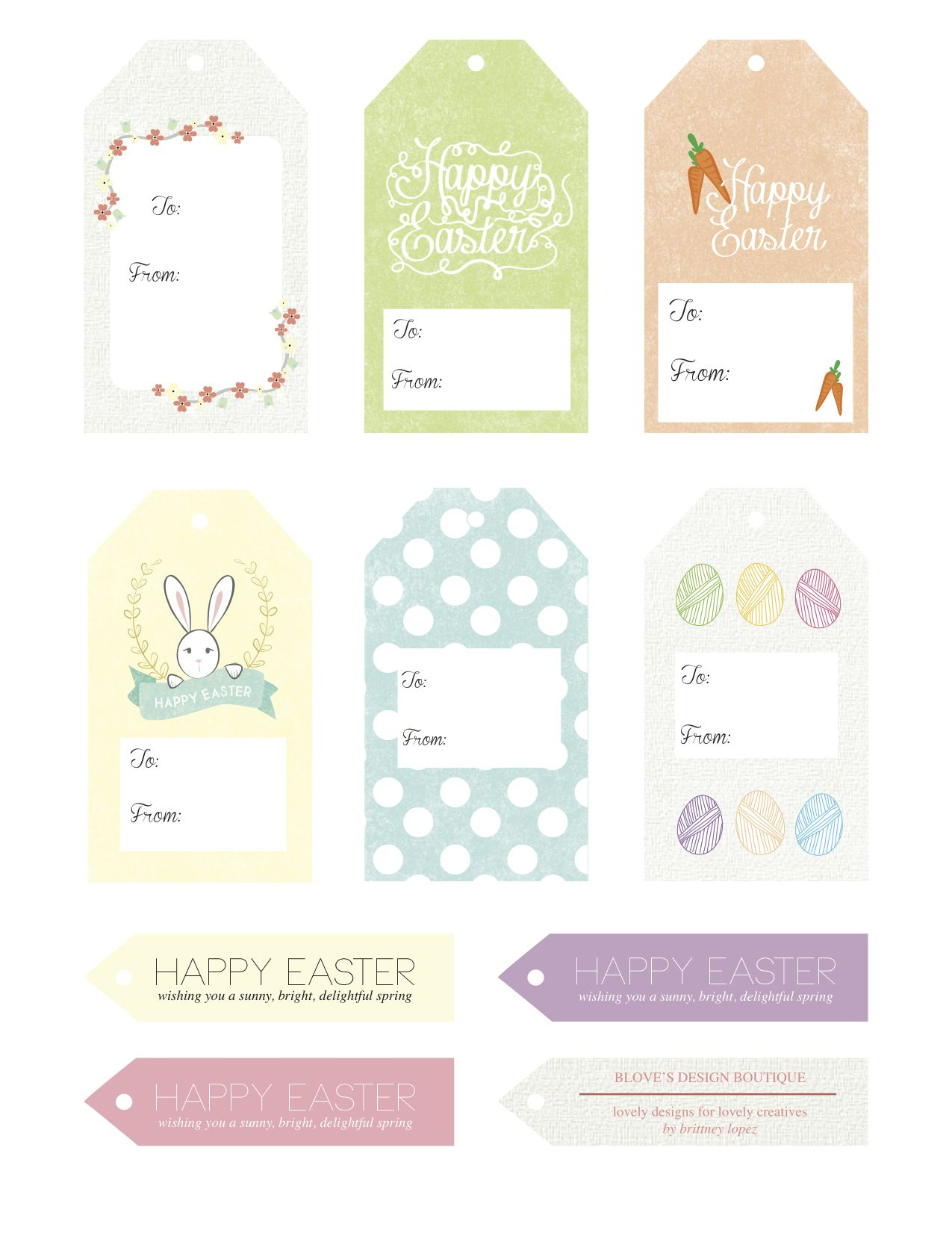 Free Easter Printables! Adorable Gift Tags. | Diy | Pinterest - Free Printable Easter Tags